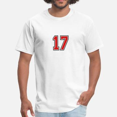 Sports Number 17 17 sports jersey football number - Men's T-Shirt