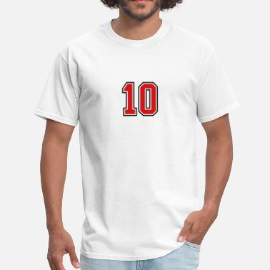 Number 10 10 sports jersey football number - Men's T-Shirt