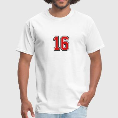 16 sports jersey football number - Men's T-Shirt
