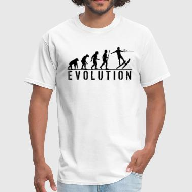 Water Skiing Evolution T Shirt - Men's T-Shirt