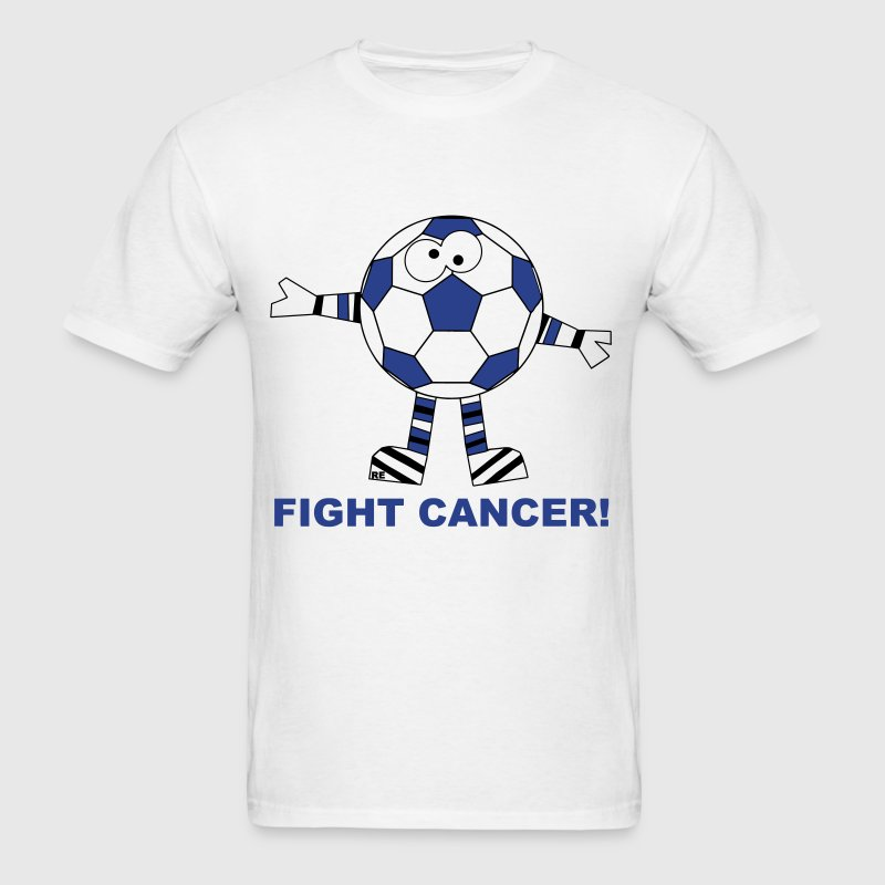 Fight Fuck Cancer Breast Comic Soccer Ball  - Men's T-Shirt