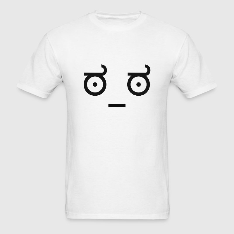 Emoticon Ascii worryEmoticon Ascii worry eyes - Men's T-Shirt