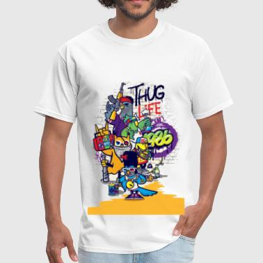 Gangster Cartoon thug life cartoon - Men's T-Shirt