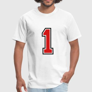 3955797 15268506 sports jersey number 1  - Men's T-Shirt