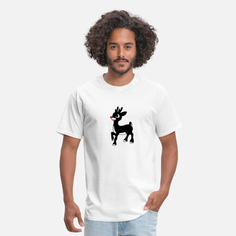 Rudolph T-Shirts - 02 rudolph red nose reindeer xmas 01 - Men's T-Shirt white