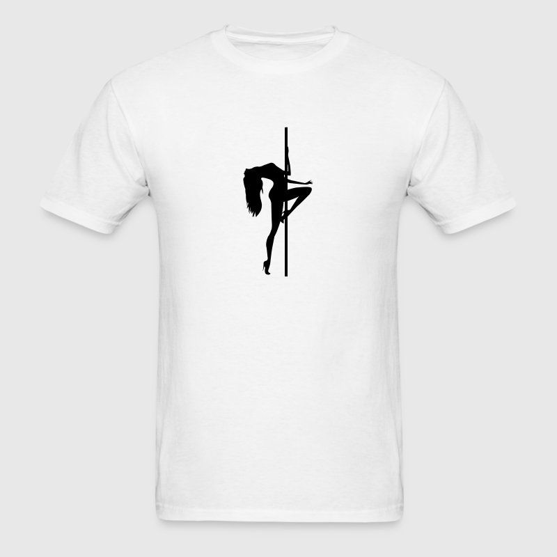Stripper - Pole Dancing - Dancer - Nude - Naked - Men's T-Shirt