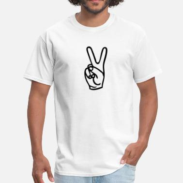 Peace Fingers Peace - Men's T-Shirt