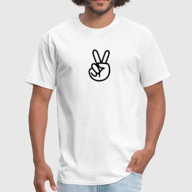 Hand Peace Sign hand peace sign - Men's T-Shirt