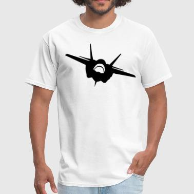 Fighter Jet (Front View) Silhouette - Men's T-Shirt
