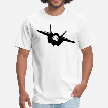 Fighter-jet Quotes Fighter Jet (Front View) Silhouette - Men's T-Shirt