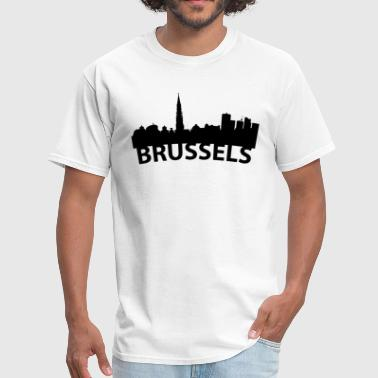 Belgium Brussel Arc Skyline Of Brussels Belgium - Men's T-Shirt