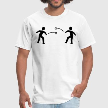 Stickfigure Quotes Snowball Fight Stickfigures - Men's T-Shirt