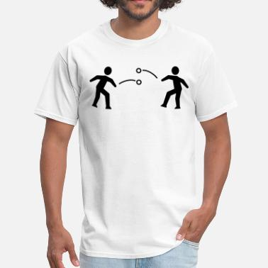 Stickfigure Kids Snowball Fight Stickfigures - Men's T-Shirt