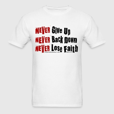NeverGiveUp4dark.png - Men's T-Shirt