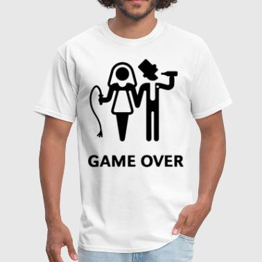 Wrestling Groom To Be GAME OVER MENS GROOM BRIDE WEDDING GIFT PRESENT BO - Men's T-Shirt
