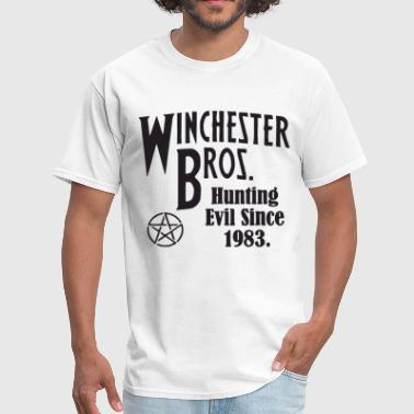 Castiel Supernatural winchester Bros Hunting Evil Since 19 - Men's T-Shirt