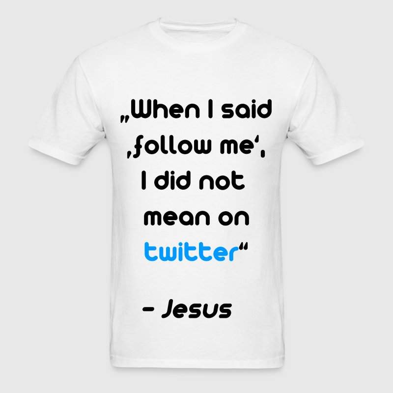 Follow me - twitter - Men's T-Shirt