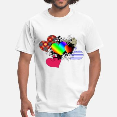 Multi Colored Hearts in multi color - Men's T-Shirt