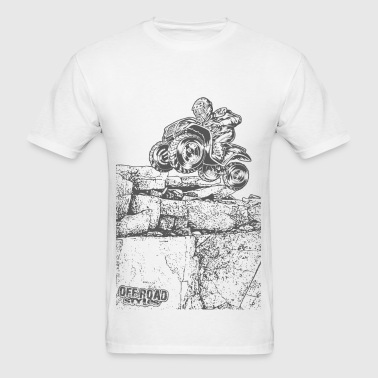 Quad Styled Rock Crawler - Men's T-Shirt