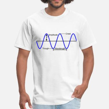 Wave Diagram Red - Men's T-Shirt