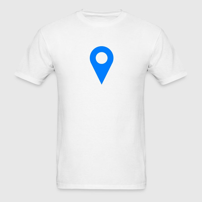 Location Icon Blue - Men's T-Shirt