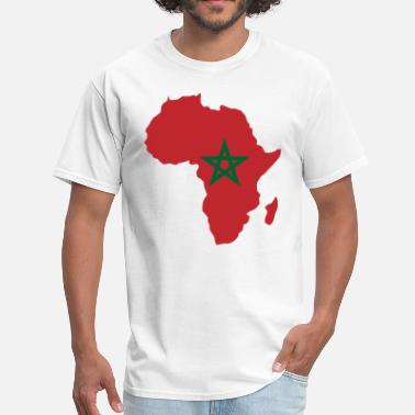 Morocco Flag Morocco Flag In Africa Map - Men's T-Shirt