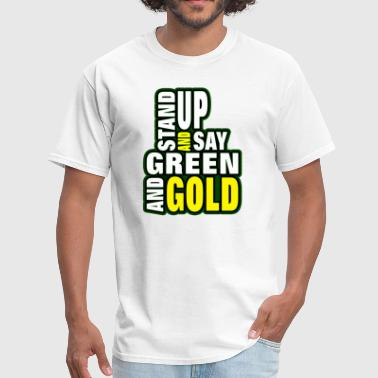 Green and Gold - Men's T-Shirt
