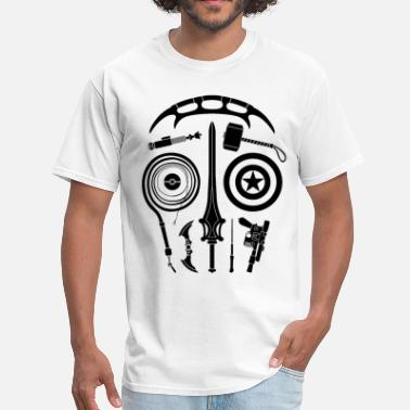 Indiana Sci-Fi Weapon Skull T-Shirt - Men's T-Shirt