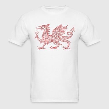 Welsh dragon symbol of Wales - Men's T-Shirt