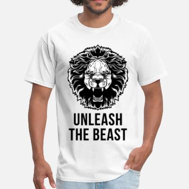 Unleash  Unleash The Beast - Lion - Men's T-Shirt