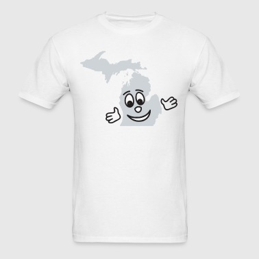 A Cute Smile Smiley Michigan  - Men's T-Shirt