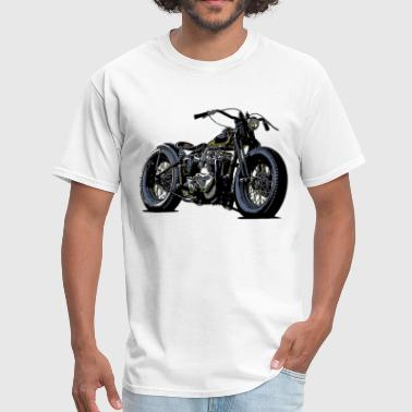 Old School Motorcycle Designs Vintage motorcycle sketch in black - Men's T-Shirt