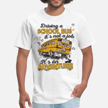 Driving School driving a school bus - Men's T-Shirt