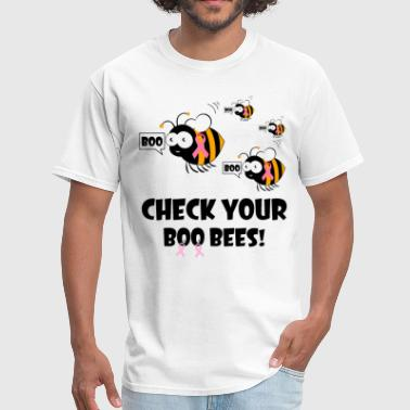 Breast Cancer Research check your boo bees boo animals cartoon lovely can - Men's T-Shirt
