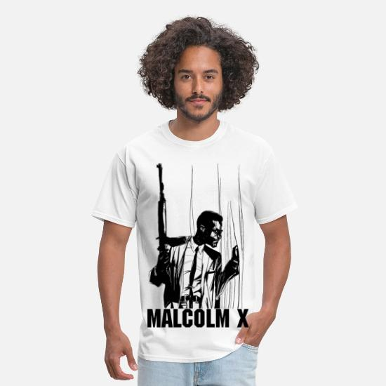 Malcolm X T-Shirts - MAN IN WINDOW - Men's T-Shirt white