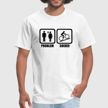 Funny Cycling Problem Solved - Men's T-Shirt
