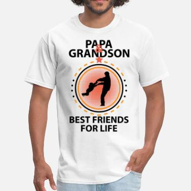 Best Grandson Ever Papa And Grandson Best Friends For Life - Men's T-Shirt