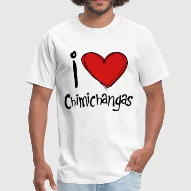 Deadpool - I Heart Chimichangas - Men's T-Shirt