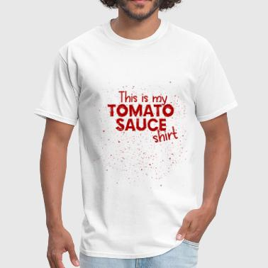 Funny Tomato Sauce Tomato Stains Funny Shirt - Men's T-Shirt