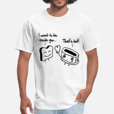 Funny Toast Toast & Toasty - Men's T-Shirt