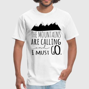 Love Mountains Apparel Mountains Are Calling Mountains Apparel Hiking Tee - Men's T-Shirt