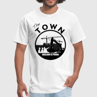 Bay Area the_town_oakland_is_proud_black - Men's T-Shirt