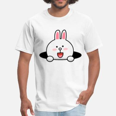 Line Character Cute & Funny Line Cartoon 34 - Men's T-Shirt