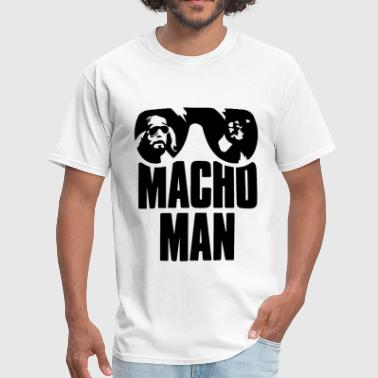 Macho Man Ran dy Savage Old School Adult Licensed - Men's T-Shirt