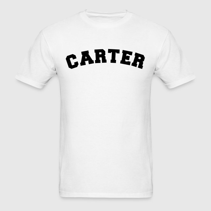 carter name surname sports jersey curved - Men's T-Shirt