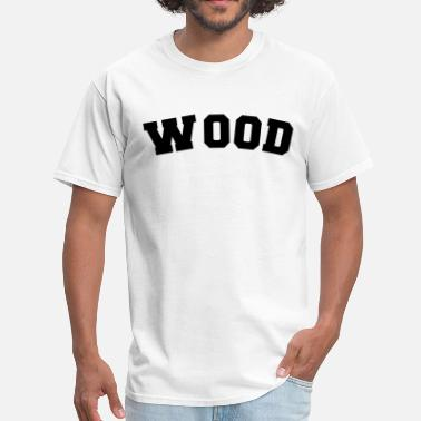 Curving Sport wood name surname sports jersey curved - Men's T-Shirt