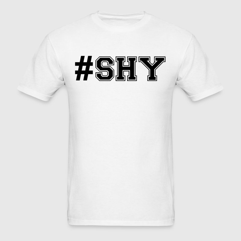 hashtag shy varsity college style text l - Men's T-Shirt