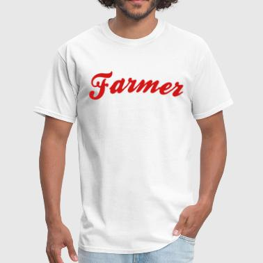 Cool Logos farmer cool curved logo - Men's T-Shirt