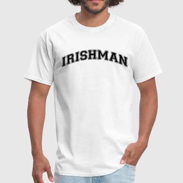 Irishman irishman college style curved logo - Men's T-Shirt
