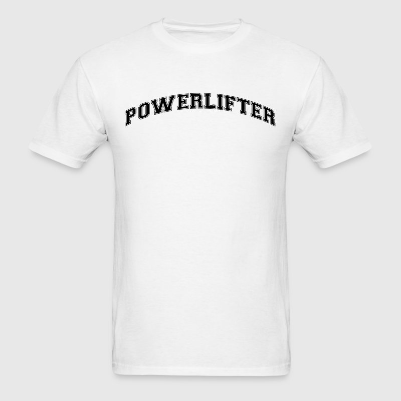 powerlifter college style curved logo - Men's T-Shirt